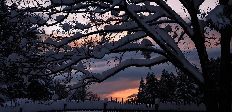 tramonto innevato Trentino