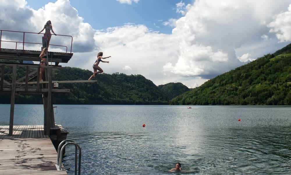 Divertimento al lago di Levico Terme
