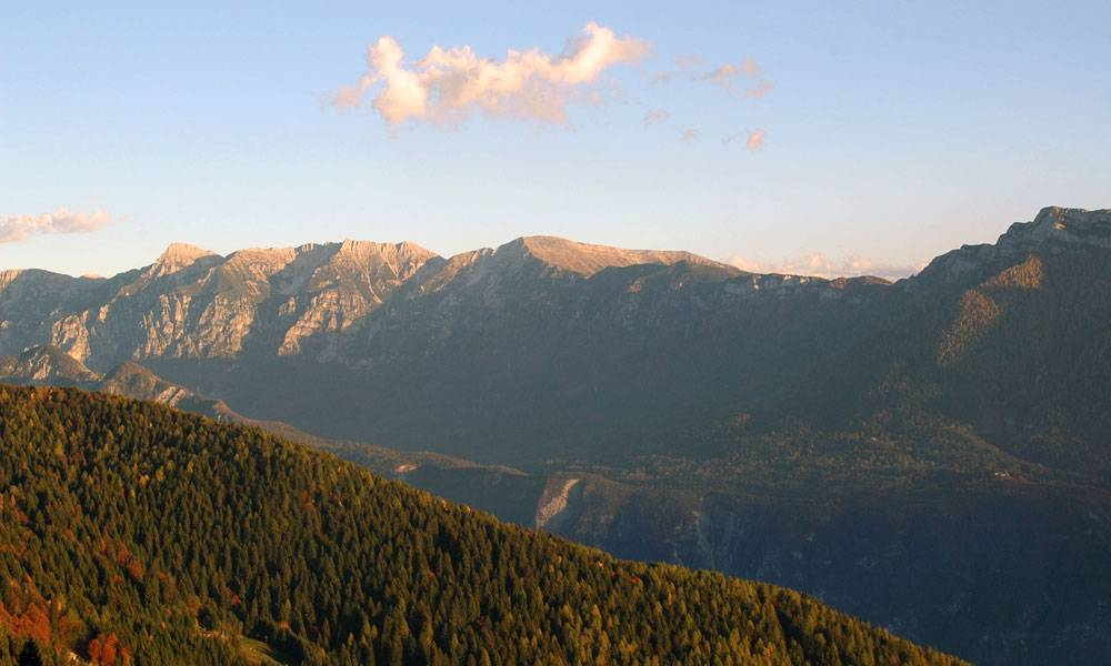 Tramonto dalla Panarotta in Valsugana
